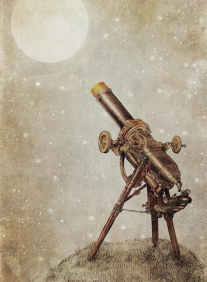 Moon Drawing - Moonrise by Eric Fan