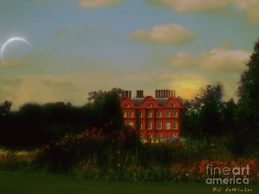 Clouds Painting - Moonrise - Sunset by RC DeWinter