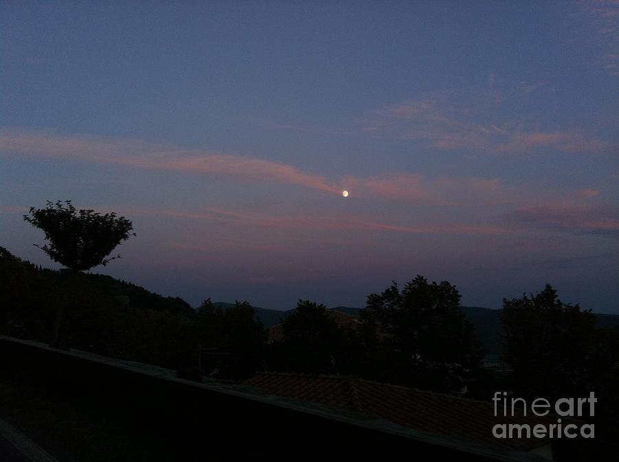Moon Photograph - Moonshine In Cortona by Alessandra Di Noto