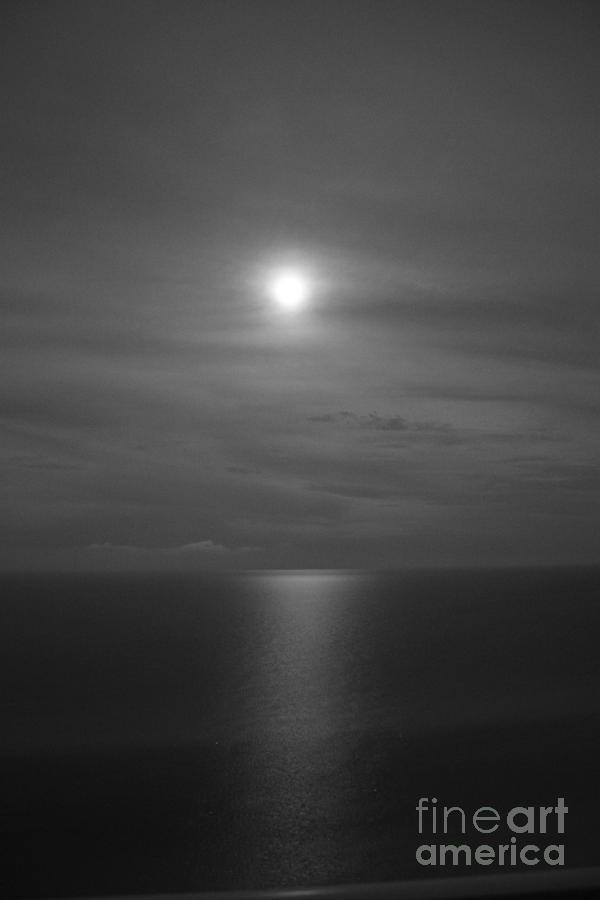 Black And White Photograph - Moonshine by Jennifer E Doll