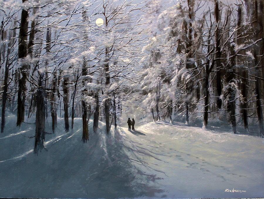 Moon Painting - Moonwalk by Ken Ahlering