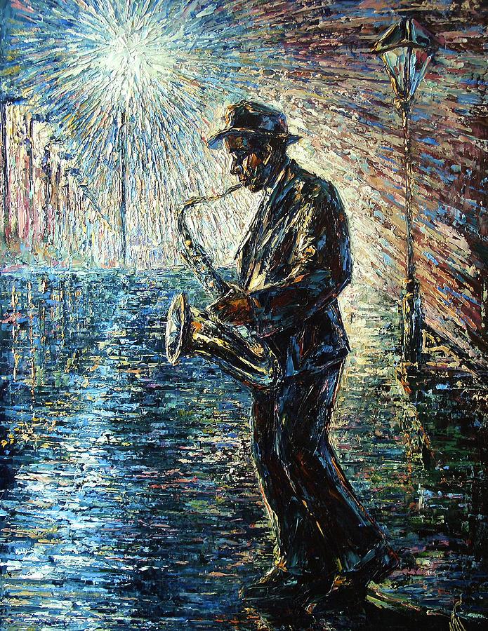 Impressionism Painting - Moonwalk Solo by Natasha Mylius