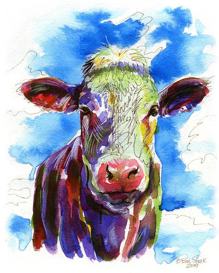 Funky Painting - Moooo by Bill Stork