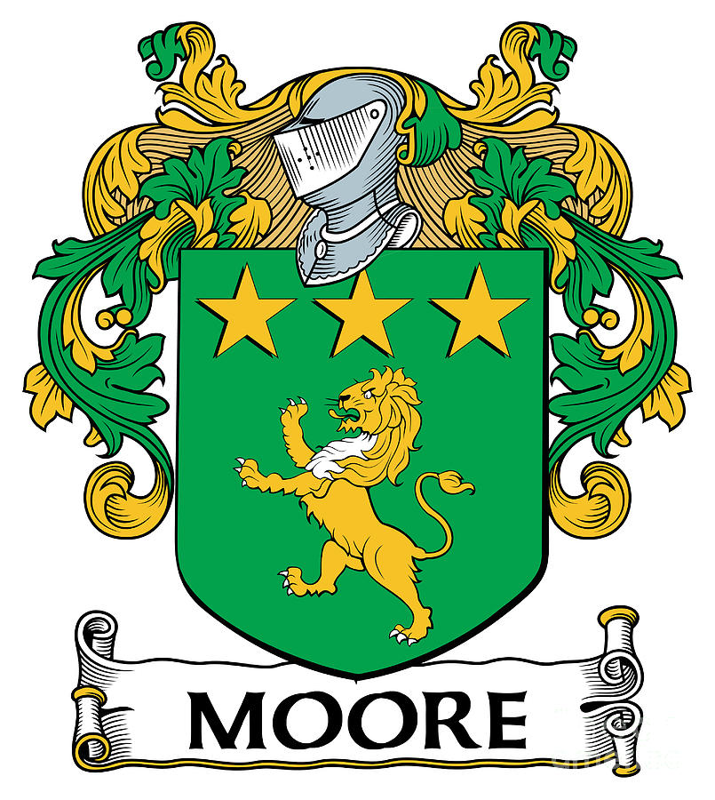 Moore Coat Of Arms Irish Digital Art By Heraldry