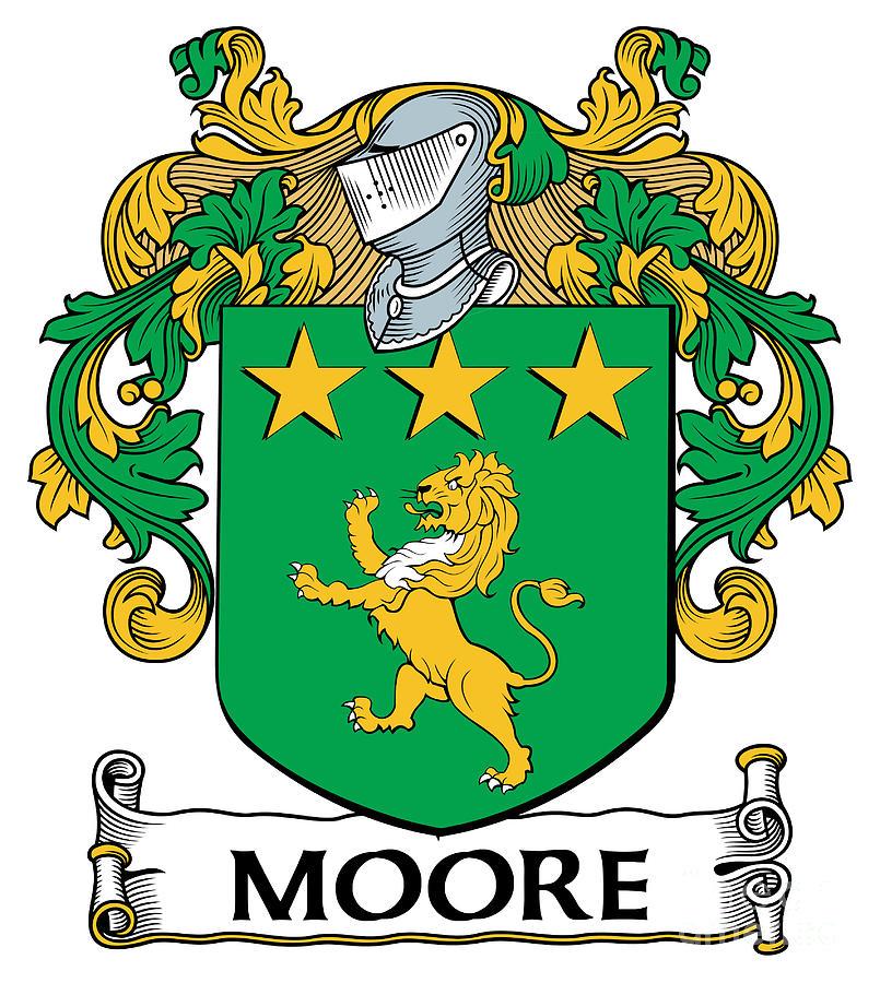 Moore Coat Of Arms Irish Digital Art By Heraldry