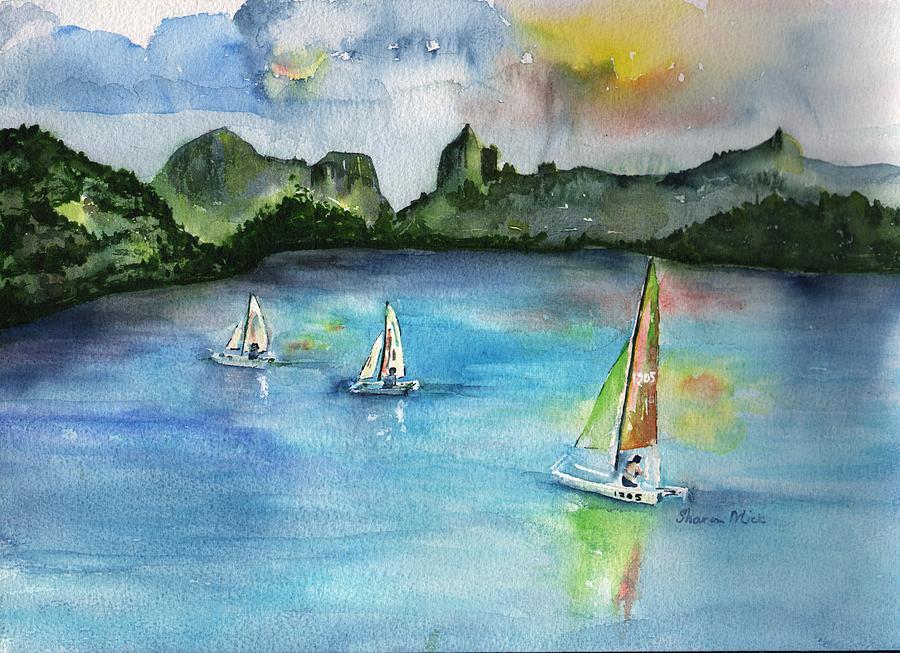 Moorea French Polynesia Painting - Moorea French Polynesia Island by Sharon Mick