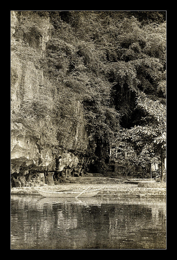 Tam Coc Photograph - Moored Boat By The River In Tam Coc by Weston Westmoreland