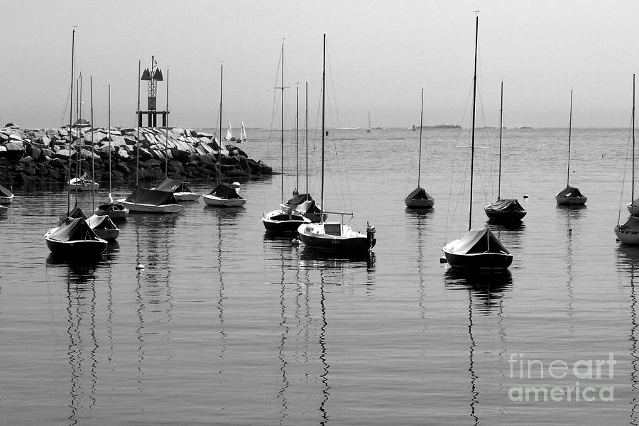 Boating Photograph - Moored by Eunice Miller
