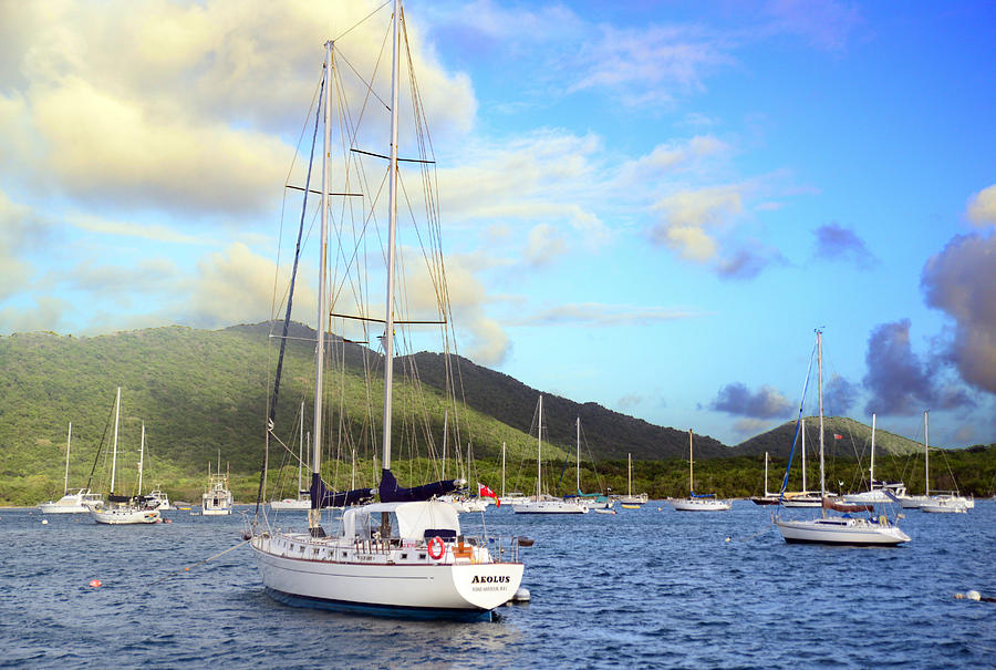 Island Photograph - Moored To Relax by Michael Glenn