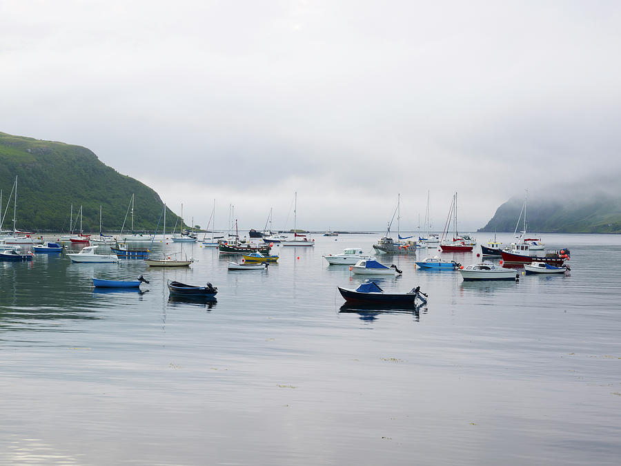 Moored Yachts Photograph by Johner Images