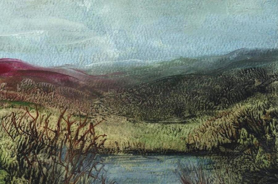 Moorland Painting - Moorland View 2 by Carol Rowland