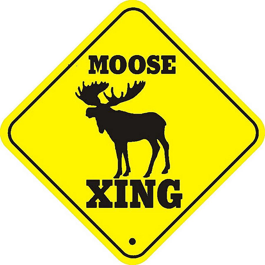 moose crossing sign digital art by marvin blaine