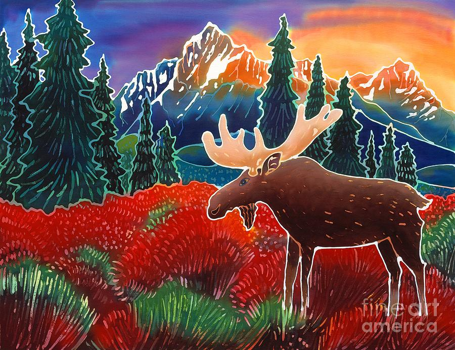 Moose Painting - Moose In The Meadow by Harriet Peck Taylor