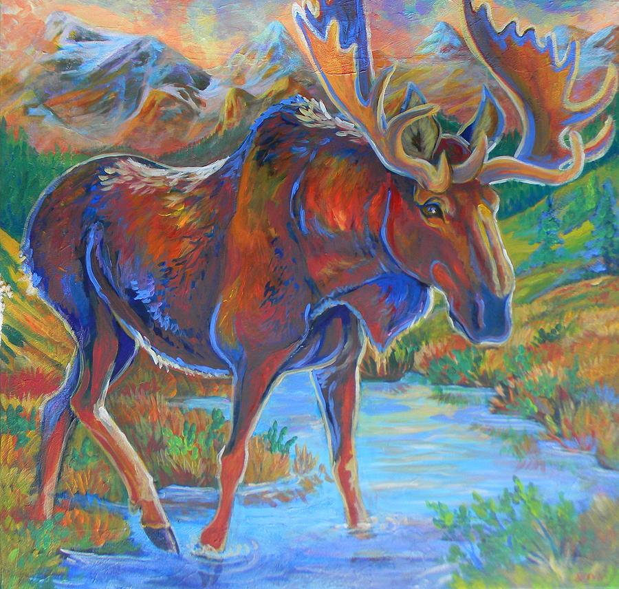 Moose Painting - Moose by Jenn Cunningham