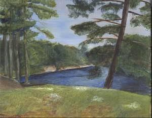 Moose River Painting - Moose River by Sheila Mashaw