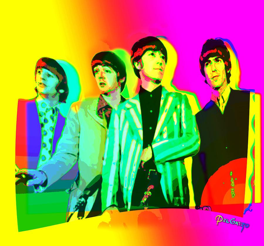 Moptops Pop 68 Beatles Mixed Media