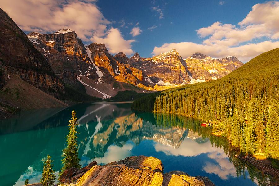 Moraine Lake Banff Canada Photograph by Noppawat Tom Charoensinphon