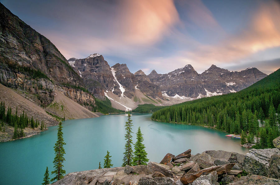 Moraine Lake, Banff National Park Photograph by Photographed By Owen Ogrady
