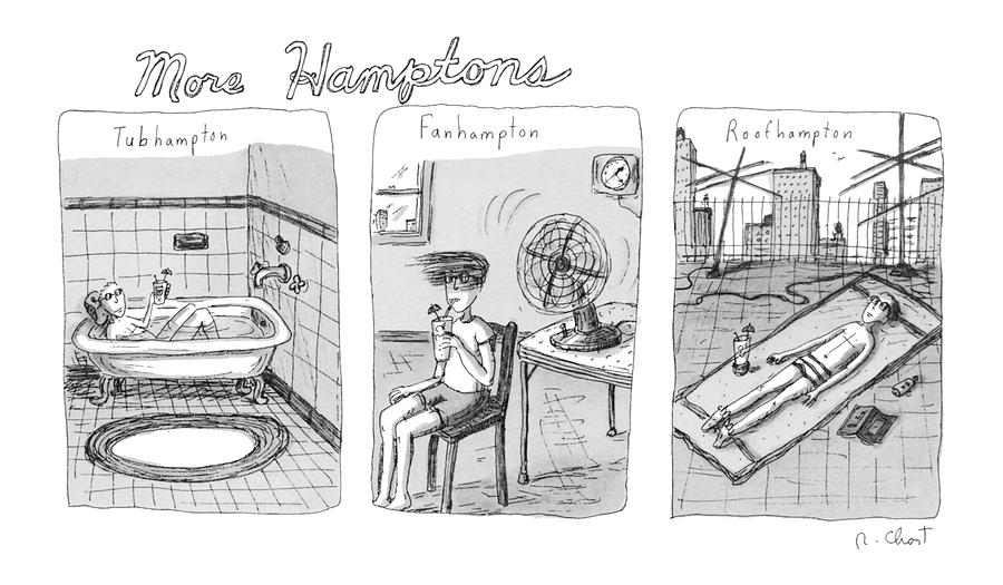 More Hamptons: Drawing by Roz Chast