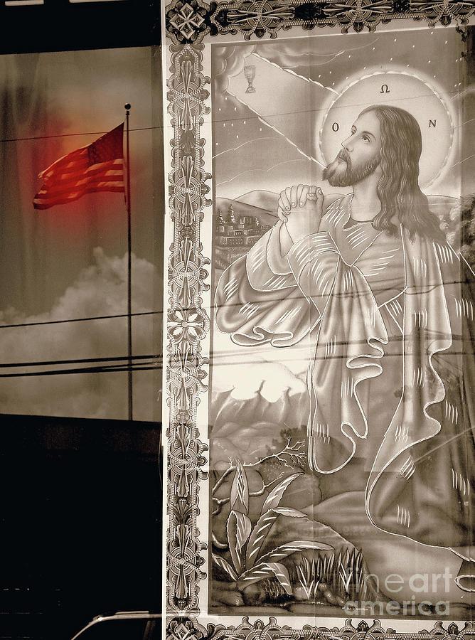 Jesus Praying Print Photograph - More Prayers For The Nation by Joe Jake Pratt