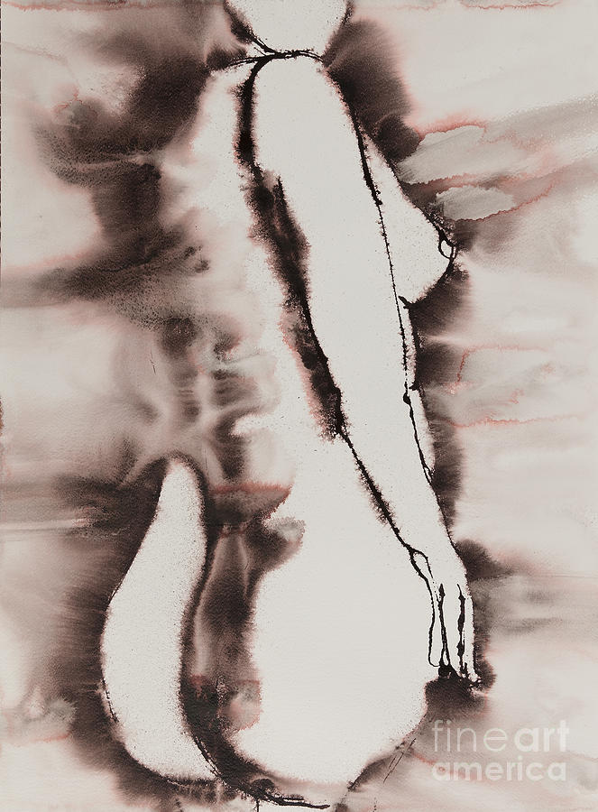 Female Painting - More Than Series No. 1384 by Ilisa Millermoon