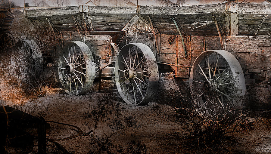 Wagon Photograph - More Wagons East by Gunter Nezhoda