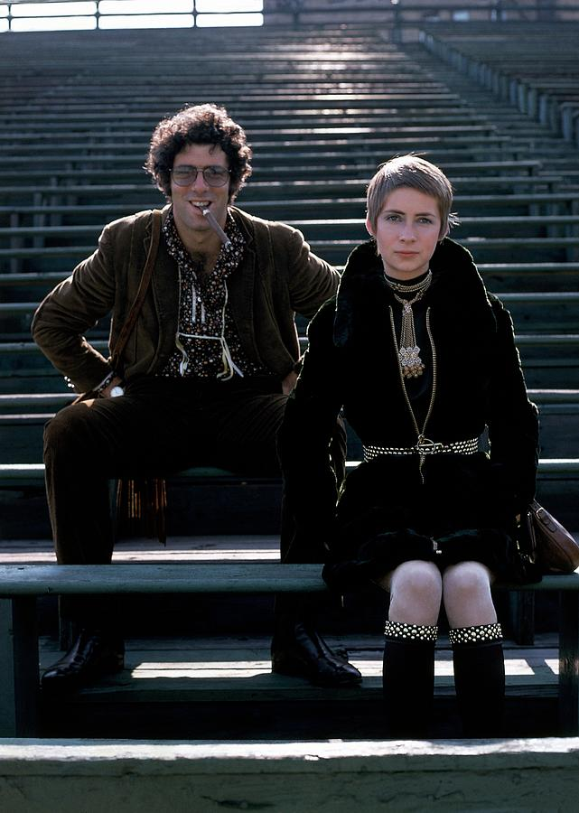 Fashion Photograph - Moreen Mcgill And Elliot Gould by William Connors