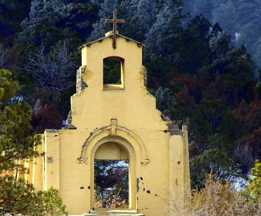 Old Church Photograph - Mountain Mission Church by Barbara Chichester