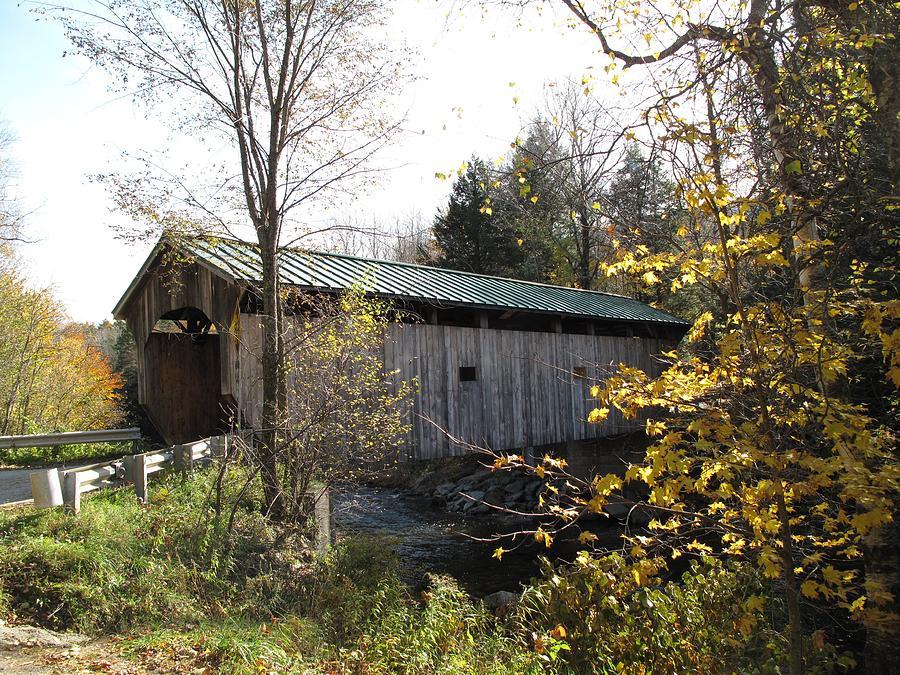 Covered Bridge Photograph - Morgan Bridge Belvidere Junction Vermont by Barbara McDevitt