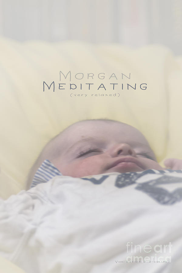Morgan Meditating 2 by Vicki Ferrari