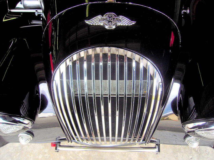Morgan Photograph - Morgan Sports Car Grille by Don Struke