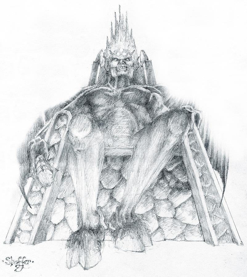 Morgoth Drawing - Morgoth Bauglir by Curtiss Shaffer