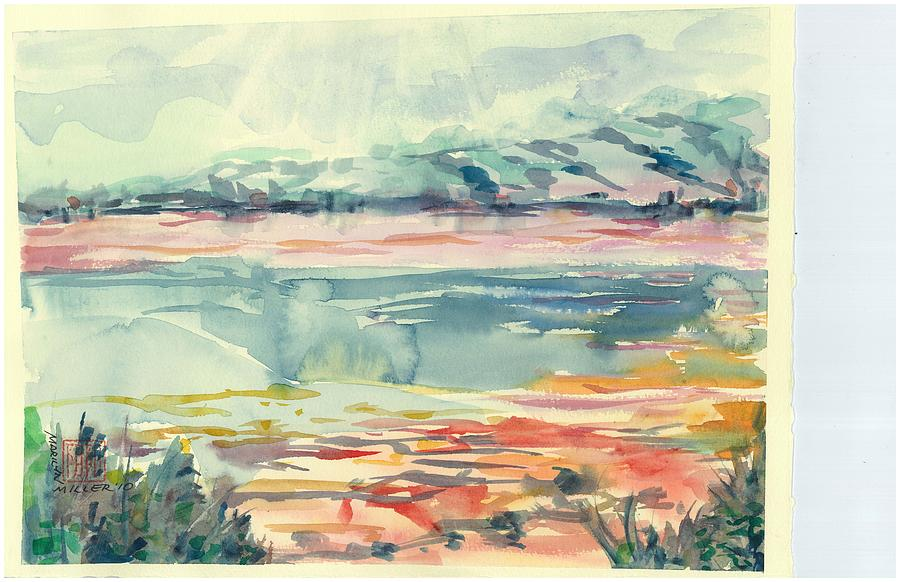 Arizona Painting - Mormon Lake by Marilyn Miller