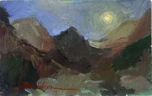 Impressionism Painting - Morn Storm  Break Glacier Park  No 1291 by Billups Fine Art