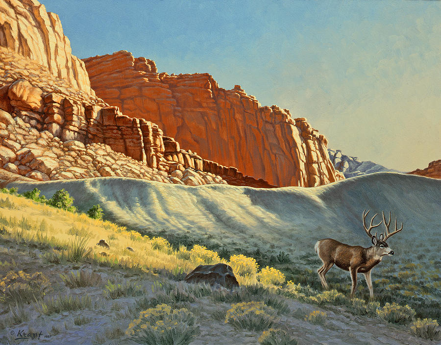 Landscape Painting - Morning At Capitol Reef by Paul Krapf