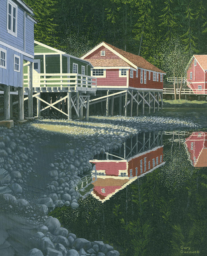 Landscape Painting - Morning At Telegraph Cove by Gary Giacomelli