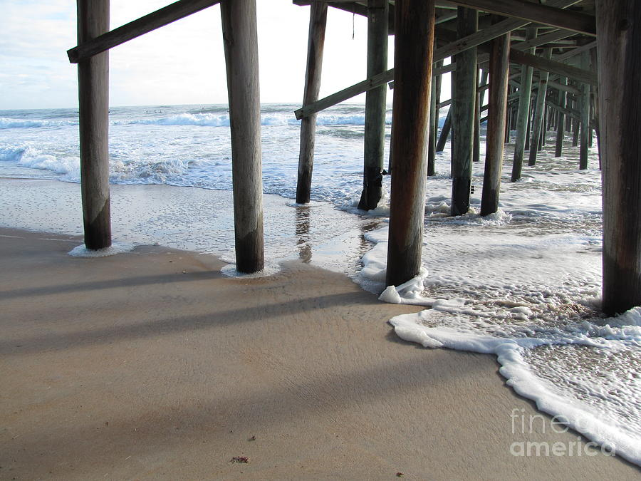 Wooden Pier Photograph - Morning At The Pier by Michele Napier-Berg