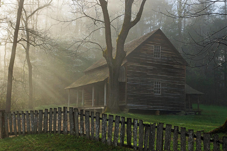 Cades Cove Photograph - Morning At The Tipton Place by Deb Campbell