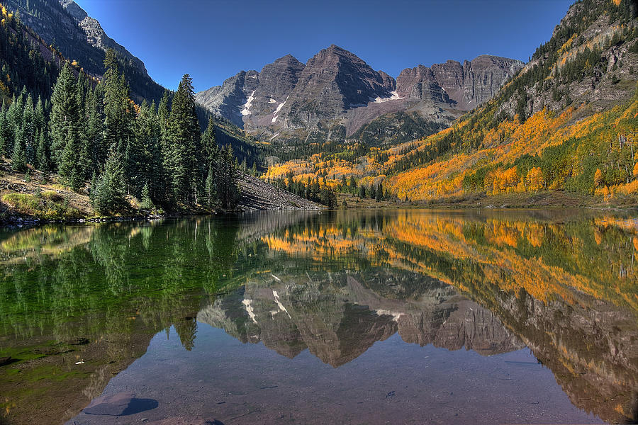 Maroon Bells Photograph - Morning Bells by Ryan Smith