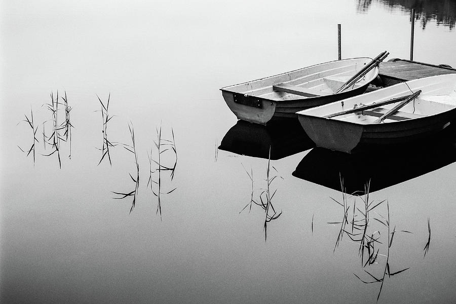 Boat Photograph - Morning By The Lake by Mats Persson