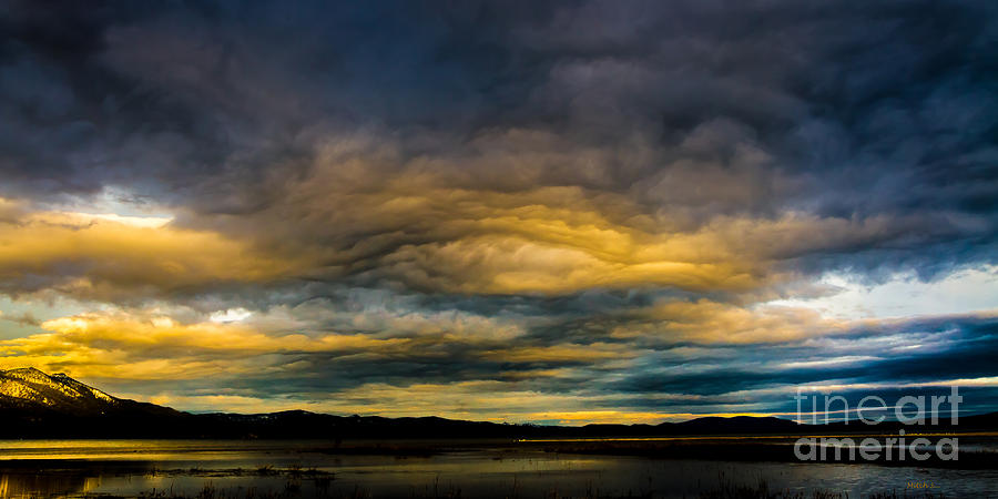 Morning Sky Photograph - Morning Canvas by Mitch Shindelbower