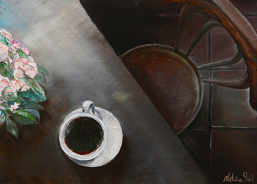 Coffee Painting - Morning Coffee by Natalia Stahl