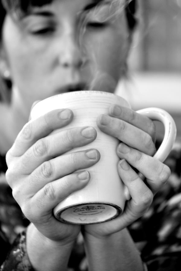 Coffee Photograph - Morning Coffee by Sally Nevin
