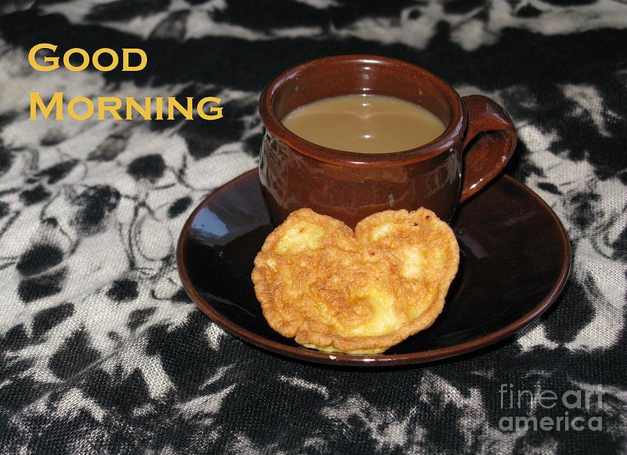 Coffee Photograph - Morning Coffee Served With Love by Ausra Huntington nee Paulauskaite