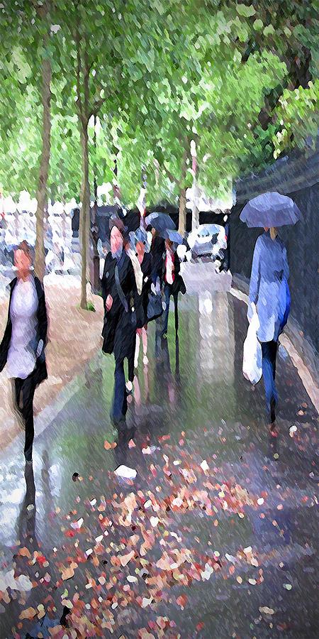 Impressionist Digital Art - Morning Commute by Suzy Freeborg