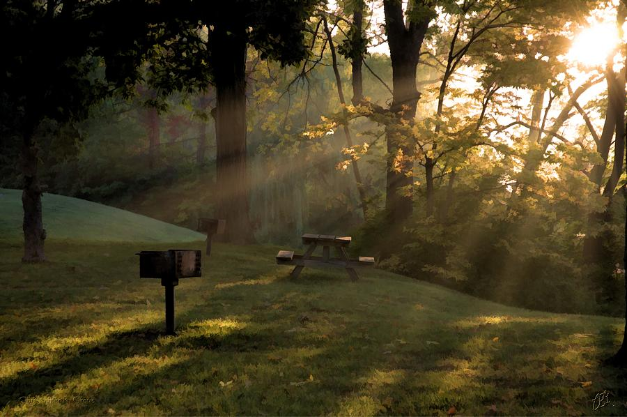 Ypsilanti Photograph - Morning Crepuscular Rays by Christopher Grove