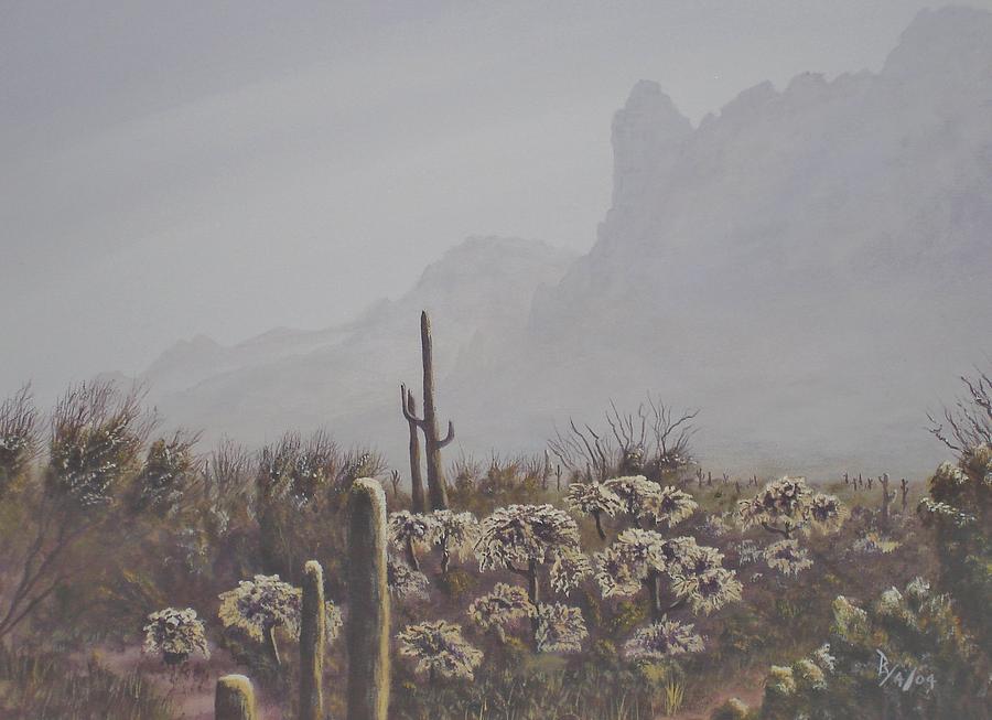 Morning Desert Haze by Ray Nutaitis