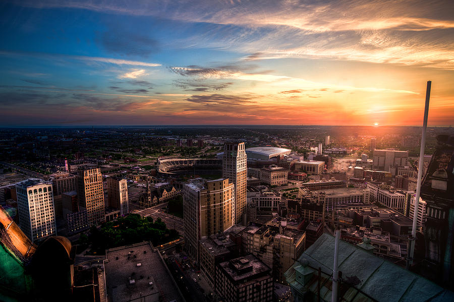 Morning Detroit Photograph by Mike Lanzetta