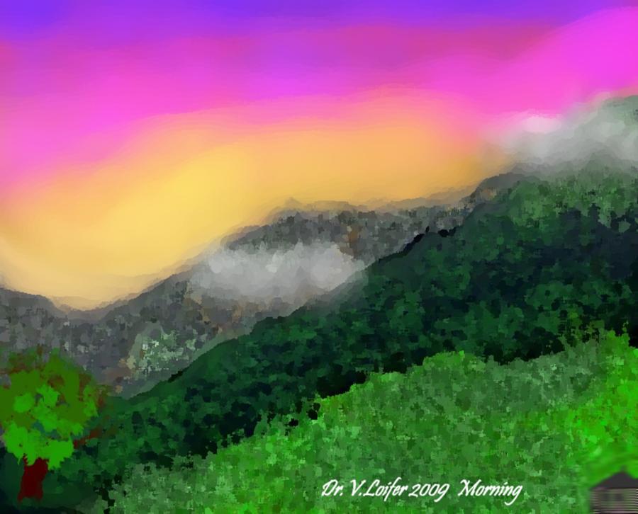 Landscape Digital Art - Morning by Dr Loifer Vladimir