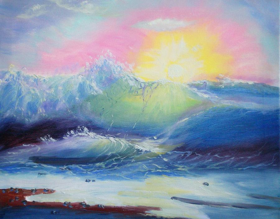 Seascape Painting - Morning by Elena Sokolova
